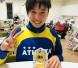 お店で応援してる、将来のオリンピック選手^_^